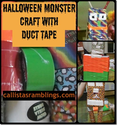 Halloween Monster Craft with Duct Tape