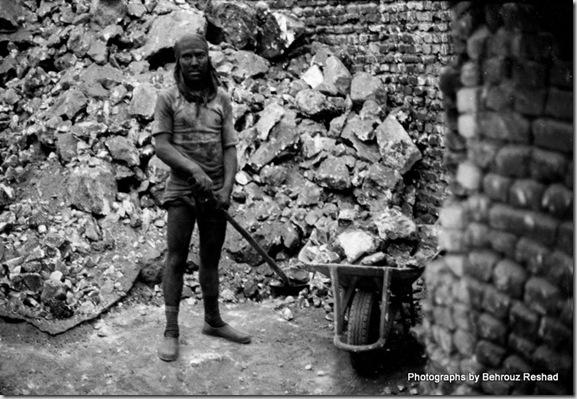 Hard work in brick kilns