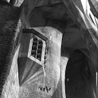 Sagrada Familia (Gaudi's basilica) in Barcelona, Spain. 1992.