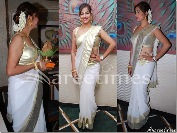 White_Georgette_Saree