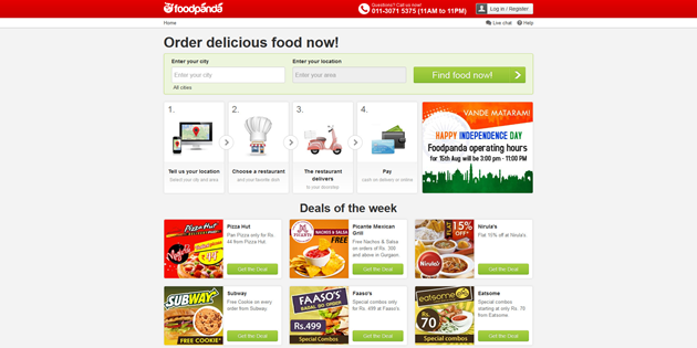 Foodpanda website