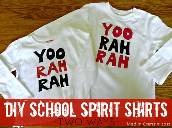 DIY  School Spirit Shirts