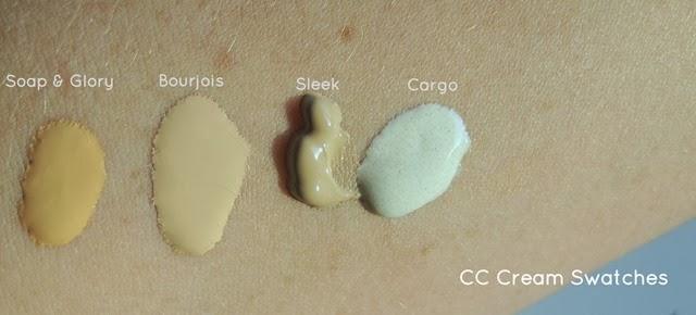 Soap&Glory-CC,Bourjois-CC,Sleek-CC,Cargo-CC-Creams