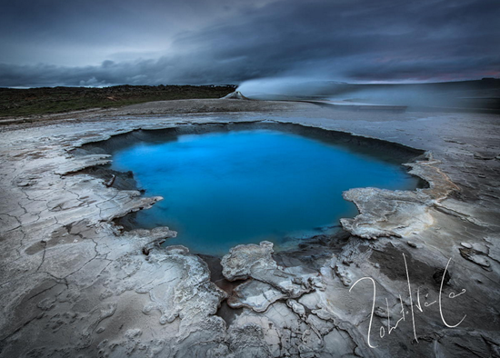 Blue hole in Hveravellir Iceland