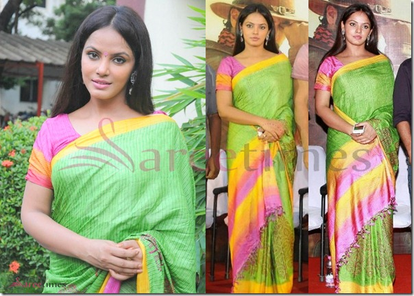Neetu_Chandra_Green_Saree