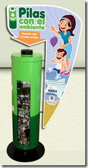 Urna para depositar pilas usadas