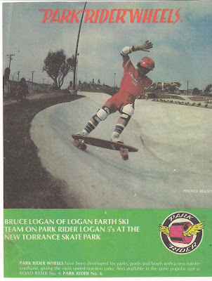 Bruce in a Parkrider Logan 5 wheel ad.