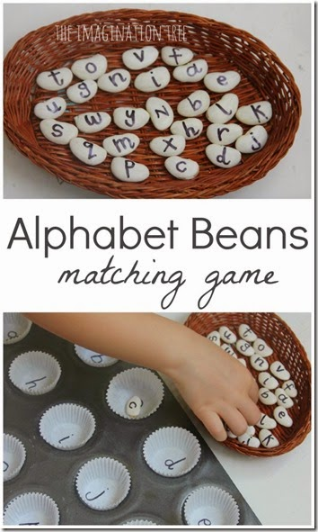 Alphabet Beans Matching Game #alphabet #preschool