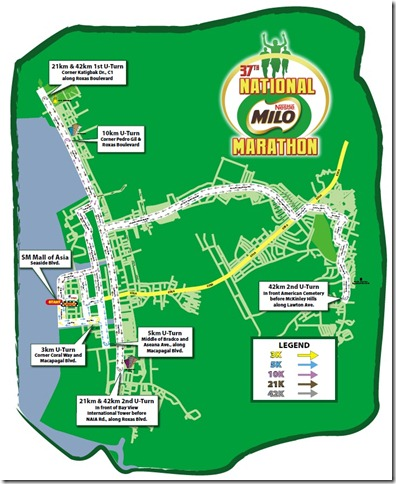 NMM Manila Race Route Map