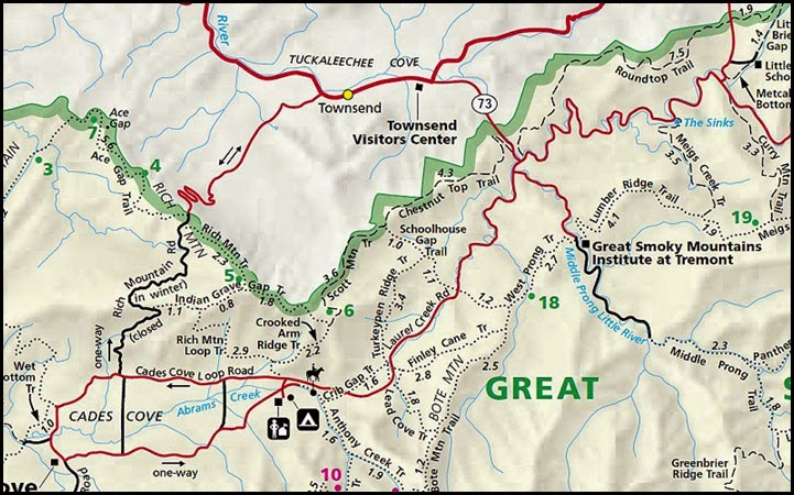 00 - Schoolhouse Gap and White Oak Sinks Trail Map