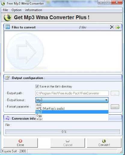 Descargar Free MP3 WMA Converter gratis