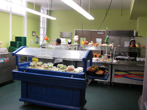 Students are served wholesome breakfasts, lunches, and snacks made with fresh foods.  They love their salad bar.