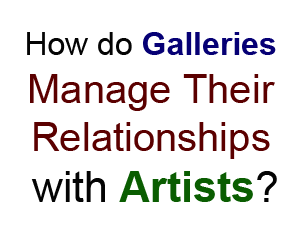 galleries manage relationships artists