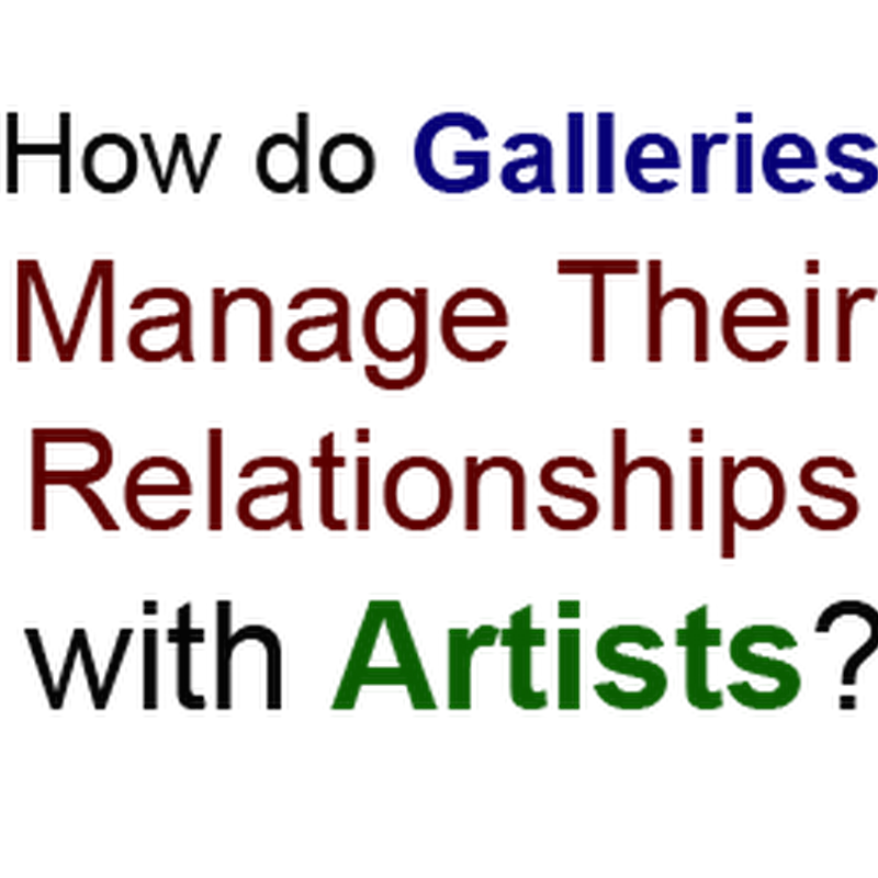 How do Galleries Manage Their Relationships with Artists?
