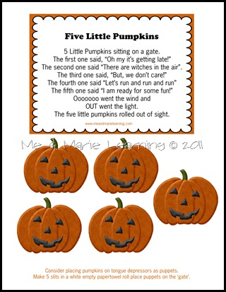 five little pumpkins copy