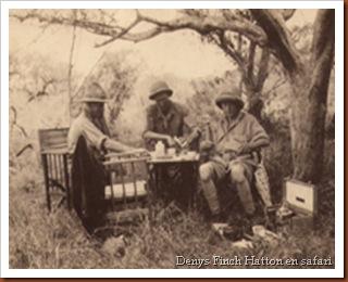 Denis Finch Hatton. En pique-nique safari