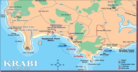 Cartina thailandia 3 - Ao Nang
