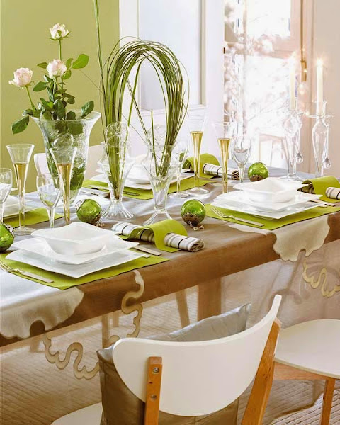 Christmas Table Decor Green Table Decoration Ideas