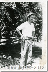 Arthur Harry Iverson at Home in his camping gear about 1934