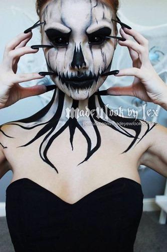 maquillaje miedo disfracesfaciles (8)