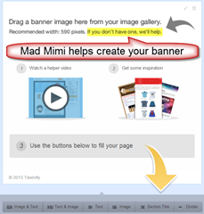 Mad Mimi helps create your banner