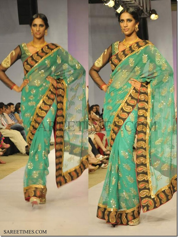 Joy_Mitra_Green_Saree