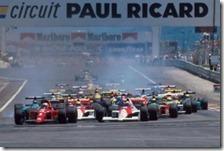 La partenza del gran premio di Francia 1990