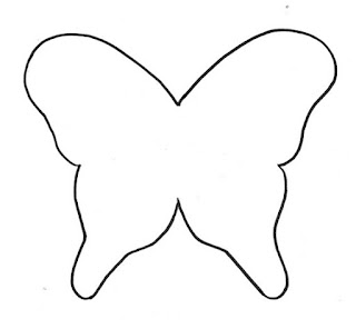 molde mariposa para recortar