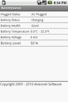 Screenshot of BatteryStatus