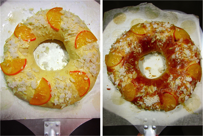 baking roscón