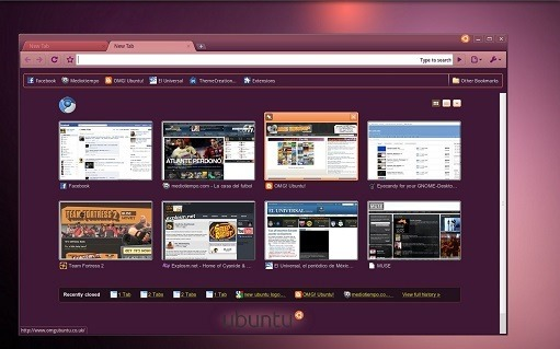 new ubuntu theme for chrome