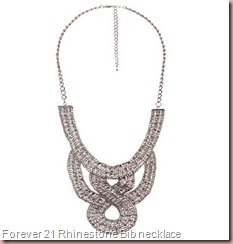 FOREVER 21 Rhinestone Bib necklace