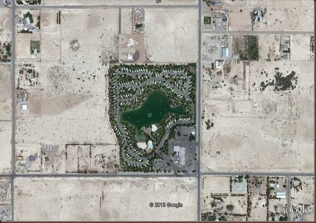 Pahrump-satellite shot of campground