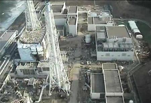 Tokyo Electric Power (TEPCO) Co.'s crippled Fukushima Daiichi Nuclear Power Plant is seen in this still image taken from a video shot by an unmanned helicopter on April 10, 2011 and released by TEPCO April 11, 2011, one month after the 9.0 magnitude earthquake and tsunami battered Japan's northeast coast. Credit: Reuters / Tokyo Electric Power Co / Handout