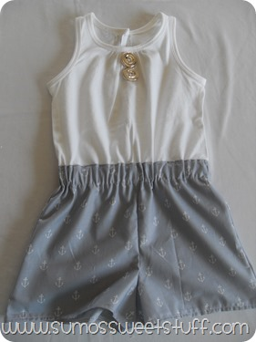 Sumo's Sweet Stuff - Nautical Romper #sewing