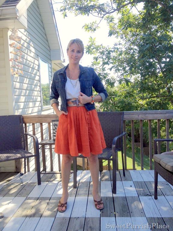 orange skirt2