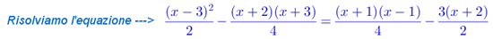 equazione primo grado