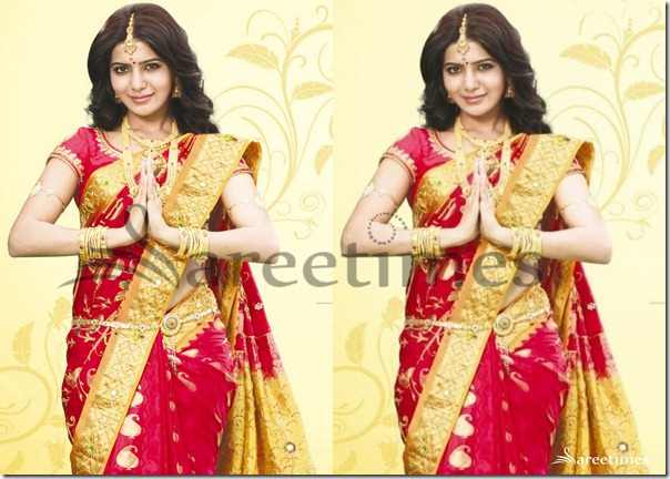 Samantha_Red_Saree
