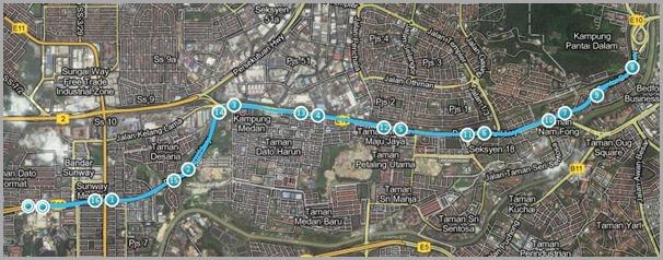 KOTR 2012 Malaysia Route