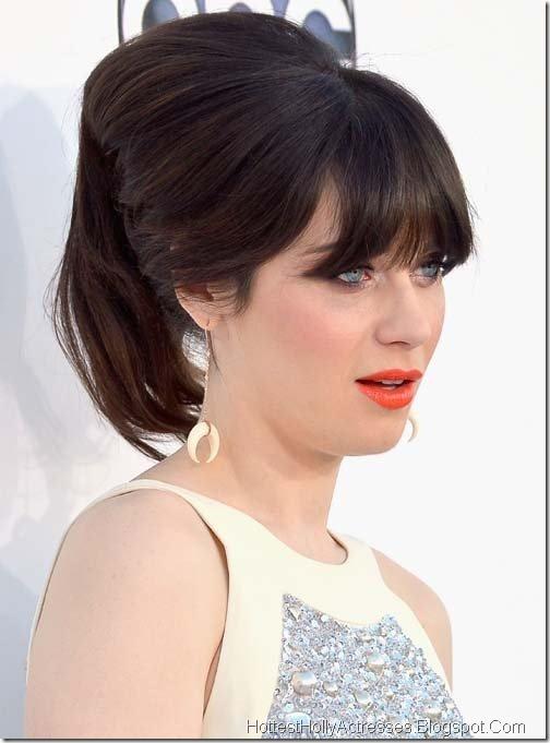 Zooey Deschanel Hot Pics in White Dress 1