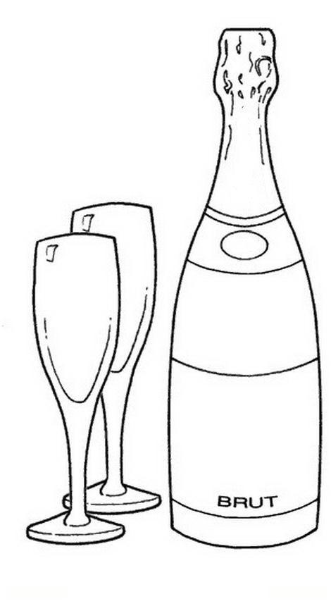 Copa de vino para colorear - Imagui