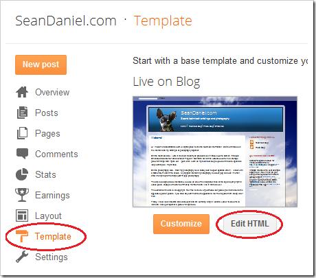 Templete / Edit HTML