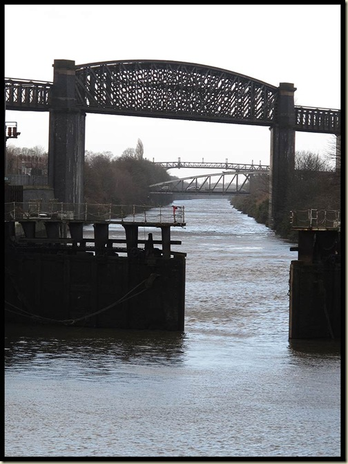 Looking down the Ship Canal from Latchford Locks