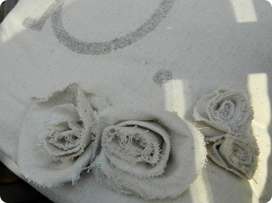 Drop Cloth Monogrammed Pillow 6
