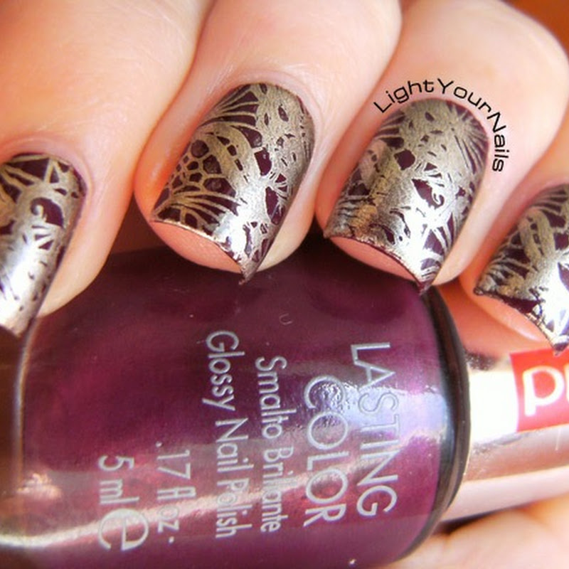 Stamping with BornPretty plate QA92
