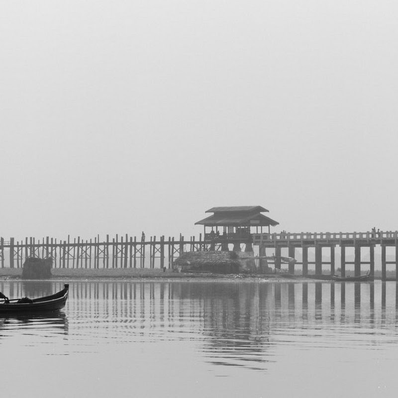 U Bein's Iconic, Kilometer Long Wooden Bridge in Myanmar