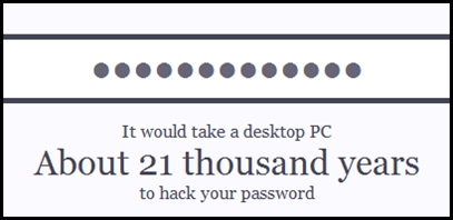 How strong is your Password ?