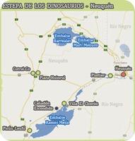 neuquen dinosaurios map
