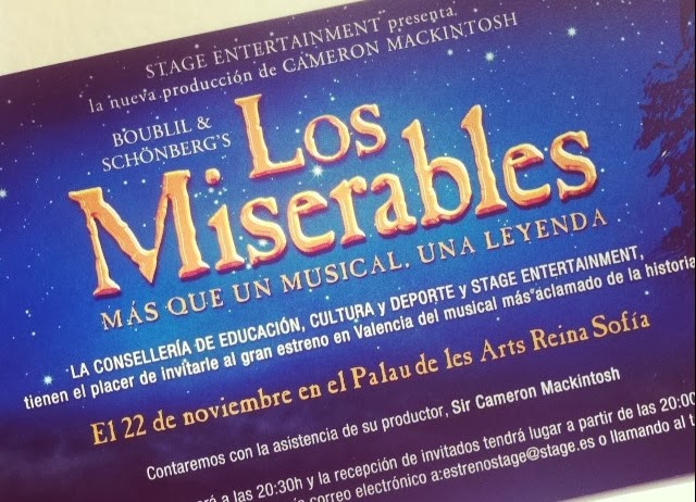 Invitación Pili de Los Miserables