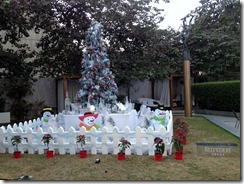 Belvedere Vodka Christmas tree at our hotel in Delhi